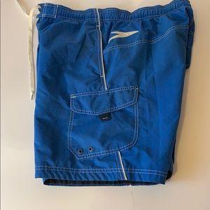 Blue Speedo size medium.